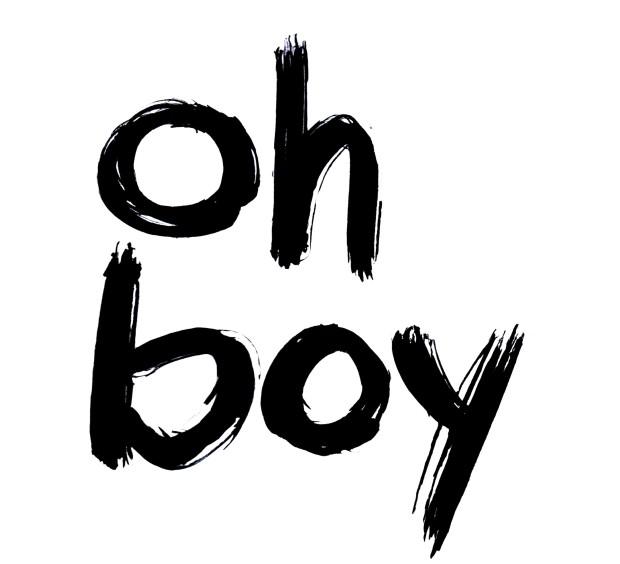 My 'oh boy' screen print - www.polishedpurposefulpretty.com